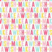 make a wish // pink + teal + yellow