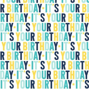 it's your birthday // navy + teal + yellow