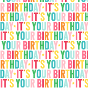 it's your birthday // rainbow with light pink