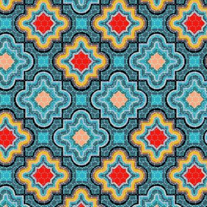 Sunshine and Shadow Turquoise Chevron Jigsaw