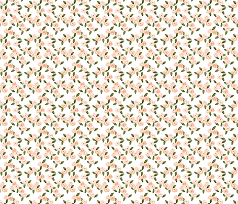 coral watercolor rosette // small fabric by ivieclothco on Spoonflower - custom fabric