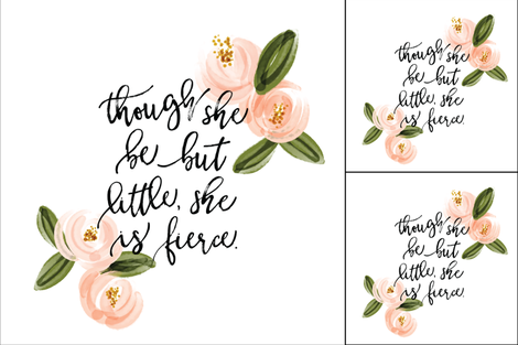 1 blanket + 2 loveys: though she be but little she is fierce // coral watercolor rosette fabric by ivieclothco on Spoonflower - custom fabric