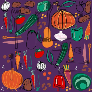 Fall veggies purple