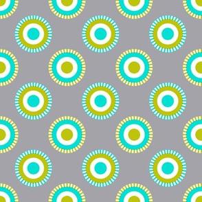 doodle dot olive and aqua