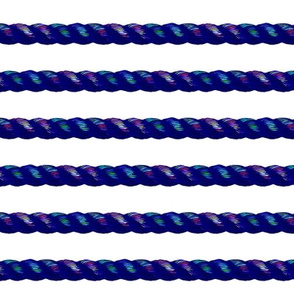 rainbow rope on white horizontal
