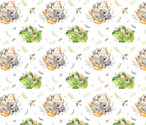 Friends party_7 fabric by peace_shop on Spoonflower - custom fabric