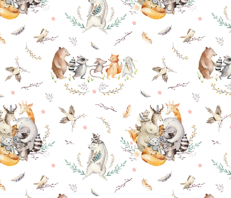 Friends party_9 fabric by peace_shop on Spoonflower - custom fabric