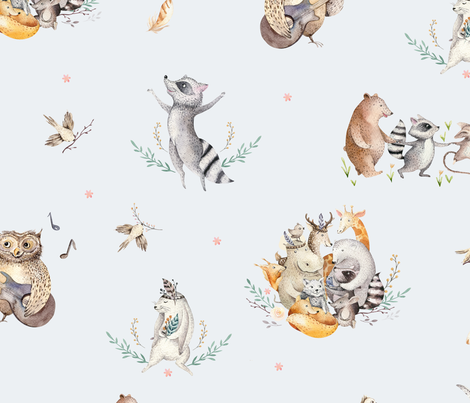 Friends party_20 fabric by peace_shop on Spoonflower - custom fabric