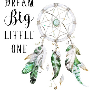 "28""x36"" / 2 to 1 Yard of 56"" Wide Fabric / Green Dreamcatcher"