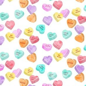 valentines day heart candy - conversation hearts