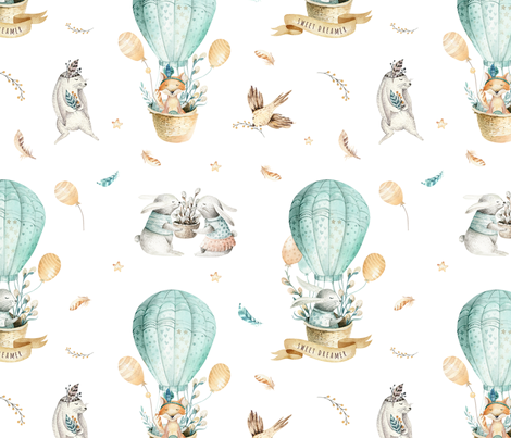 Sweet_dreamer_6 fabric by peace_shop on Spoonflower - custom fabric
