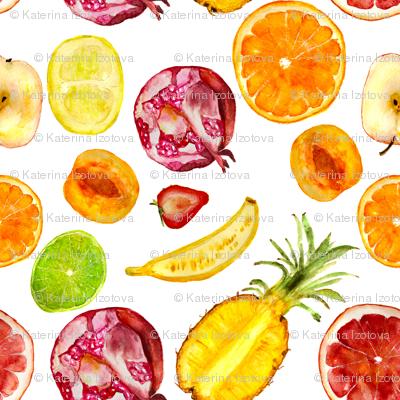 Fruit mix || watercolor