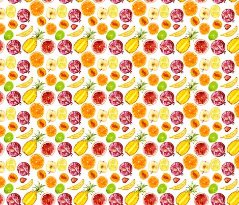 Fruit mix || watercolor fabric by katerinaizotova on Spoonflower - custom fabric