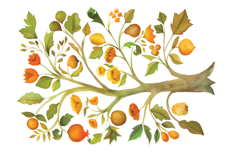 The Golden Tree fabric by ceciliamok on Spoonflower - custom fabric