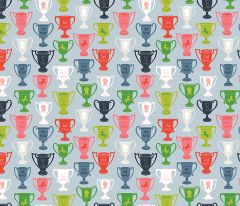 Best In Show Trophies fabric by andie_hanna on Spoonflower - custom fabric