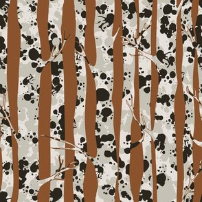 Inky Silver Birches