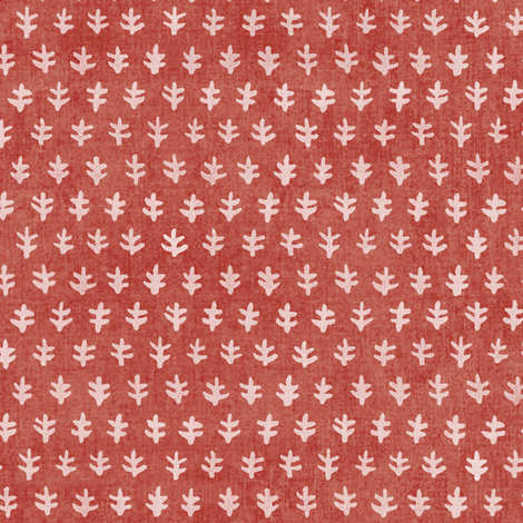Bali Block Print - Red Sand fabric by forest&sea on Spoonflower - custom fabric