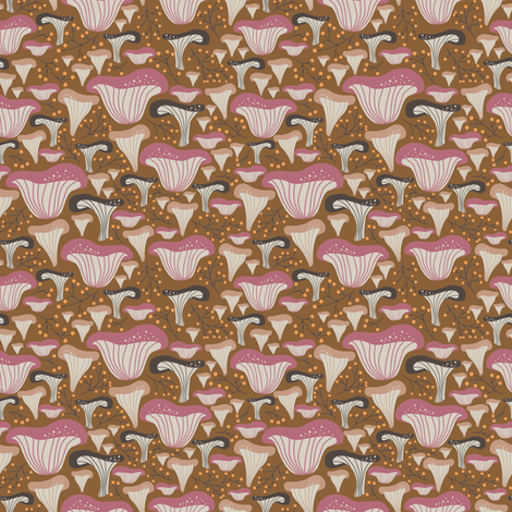 Funky mushrooms fabric by laveroniquedesign on Spoonflower - custom fabric