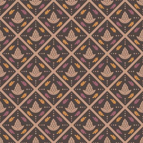 Vintage Pinecones fabric by laveroniquedesign on Spoonflower - custom fabric