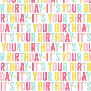 it's your birthday // pink + teal + yellow