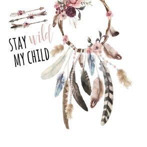 "54""x72"" // Stay Wild My Child"