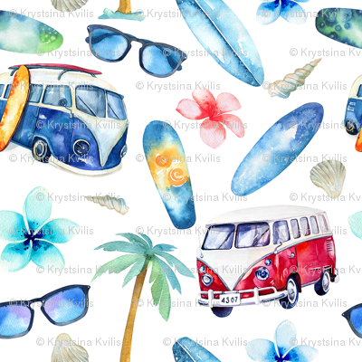Watercolor beach 4
