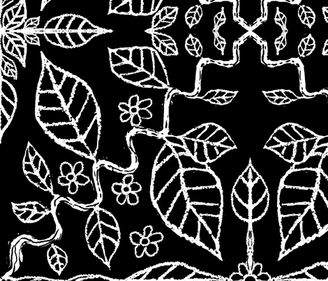 ivy_vine_black_large fabric by blayney-paul on Spoonflower - custom fabric