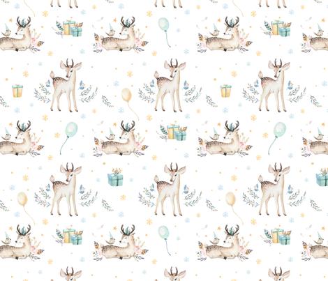 Christmas deer 18 fabric by peace_shop on Spoonflower - custom fabric