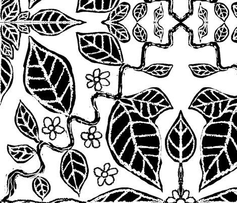 ivy_vine_white_hybrid_large fabric by blayney-paul on Spoonflower - custom fabric