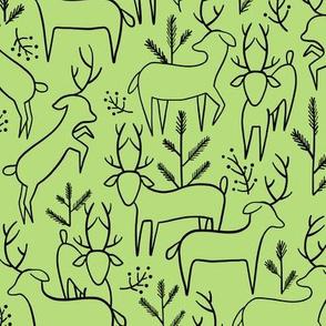 Deer_black and green