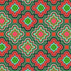 Christmas Chevron Jigsaw Red and Green