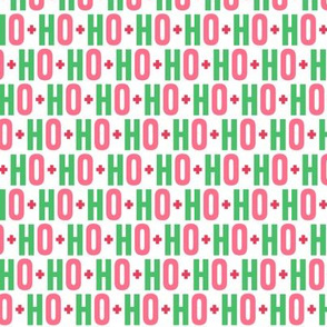 ho ho ho // green + pink + red
