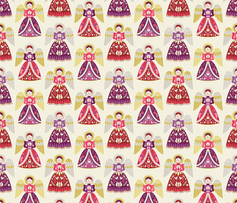 Hark The Herald Angels 2 fabric by andie_hanna on Spoonflower - custom fabric