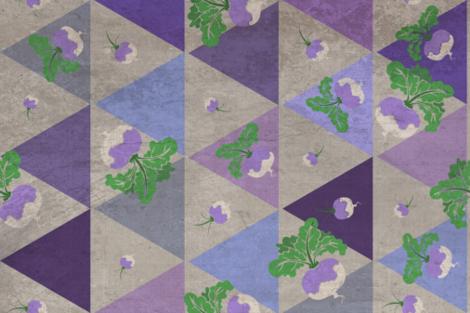Geometric Turnips fabric by kfrogb on Spoonflower - custom fabric