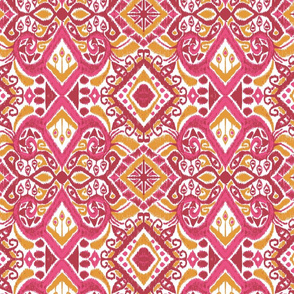 Rose & Gold Ikat