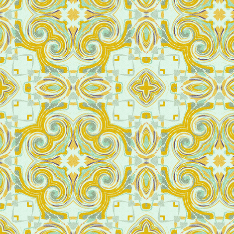 Tiles twirled for poppies fabric by wren_leyland on Spoonflower - custom fabric