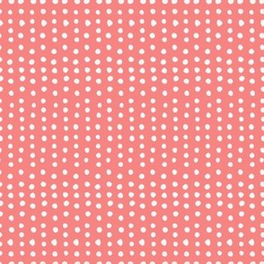 White dots / red background