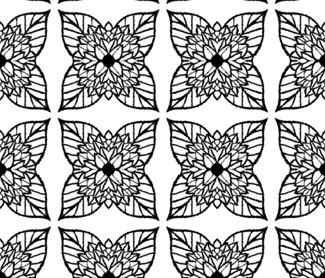 Large_flower_leaf_white_small fabric by blayney-paul on Spoonflower - custom fabric