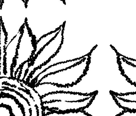 basic_flower_white_large fabric by blayney-paul on Spoonflower - custom fabric