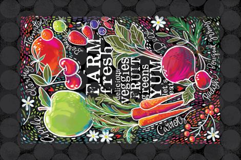 Fresh from the Farmer's Market fabric by cynthiafrenette on Spoonflower - custom fabric