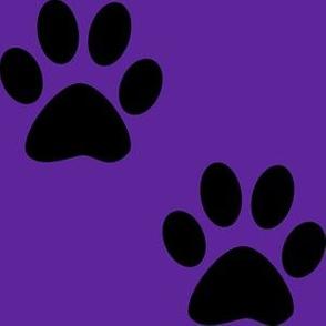 Three Inch Black Paws on Purple