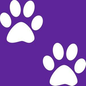 Three Inch White Paws on Purple