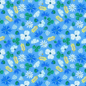 Moroccan Wheat Meadow #2 (blue)