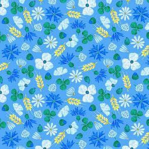 Moroccan Wheat Meadow #2 (blue)