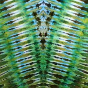 Tie Dye Stripes Pattern Green Blue