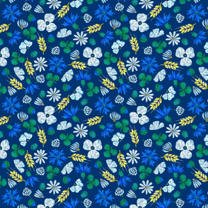 Moroccan Wheat Meadow #2 (navy)