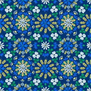 Moroccan Wheat Meadow (navy)