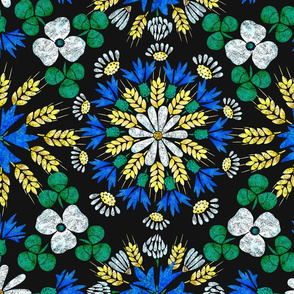 Moroccan Wheat Meadow (black)