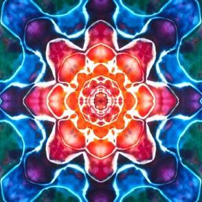 Tie Dye Mandala Star Pattern Rainbow