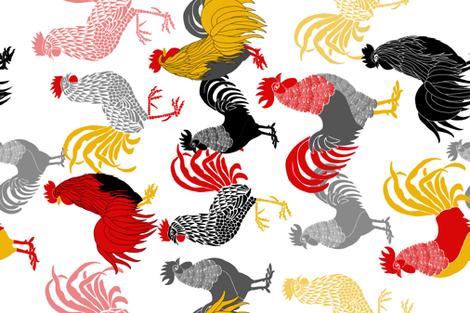 Chooks fabric by j9design on Spoonflower - custom fabric